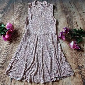 Girls size medium 7/8 pink tan cheetah dress